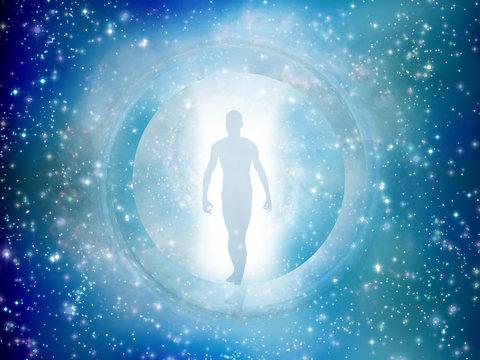 Man comes through star gate