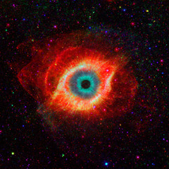 Eye in space  Some elements image credit NASA
