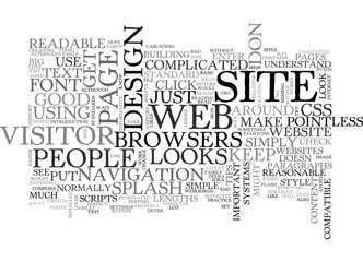 BASIC WEB DESIGN TIPS TEXT WORD CLOUD CONCEPT