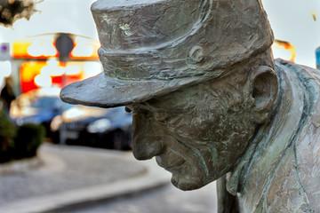 Detalle Monumento a los limpiadores, Torrelodones