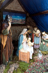 Nacimiento navideño en la Catedral de la Almudena