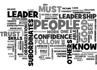 BECOME A LEADER TEXT WORD CLOUD CONCEPT