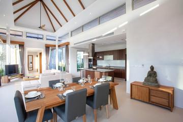 interior design and house decoration of pool villa