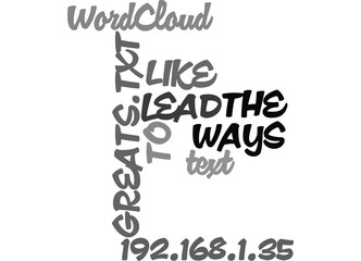 WAYS TO LEAD LIKE THE GREATS TEXT WORD CLOUD CONCEPT
