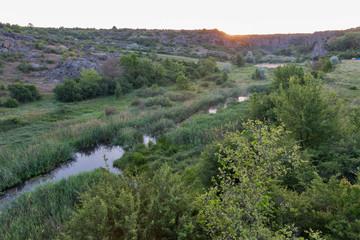 Sunrise in Aktove canyon