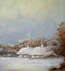 landscape, winter, oil canvas paintings