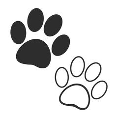 Dog prints on a white background