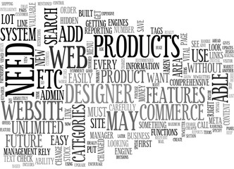 WHAT FEATURES SHOULD YOUR ECOMMERCE WEB SITE HAVE TEXT WORD CLOUD CONCEPT