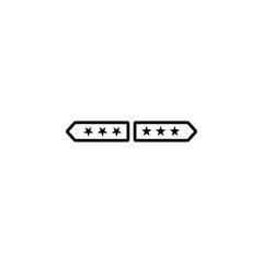 Military epaulets icon