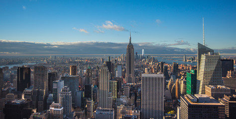 Photo sur Aluminium New York New York, Manhattan skyline