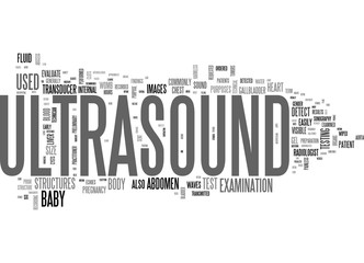 WHAT IS AN ULTRASOUND TEXT WORD CLOUD CONCEPT
