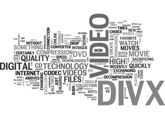 WHAT IS DIVX TEXT WORD CLOUD CONCEPT