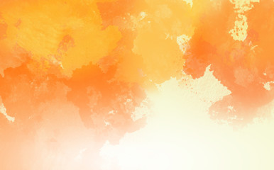 Abstract Water Color,Orange paint