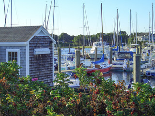 Yacht Harbor on Cape Cod Massachusetts New England