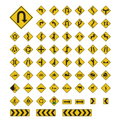 Traffic Sign Yellow Vector Illustration