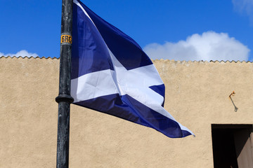 Scottish flag detail