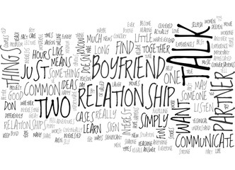 WHAT TO TALK ABOUT WITH YOUR BOYFRIEND TEXT WORD CLOUD CONCEPT