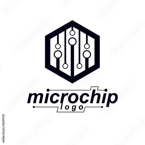 Futuristic cybernetic vector motherboard. Digital element, circuit ...