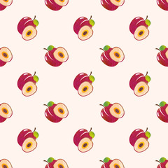 Seamless background image colorful watercolor texture tropical fruit red plum