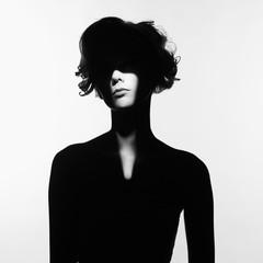 Acrylic Prints womenART Surrealistic portrait of young lady