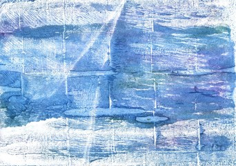 Light cobalt blue abstract watercolor background
