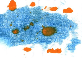 Blue Jeans abstract watercolor background