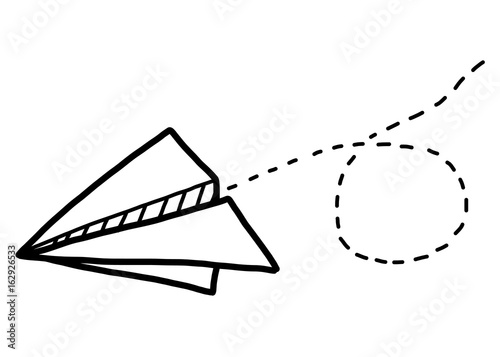 paper airplane cartoon vector and illustration black and white rh fotolia com paper airplane cartoon cute paper airplane cartoon cute
