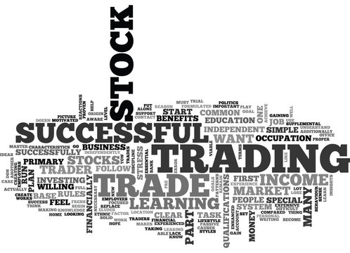 WHY LEARN TO TRADE STOCKS TEXT WORD CLOUD CONCEPT