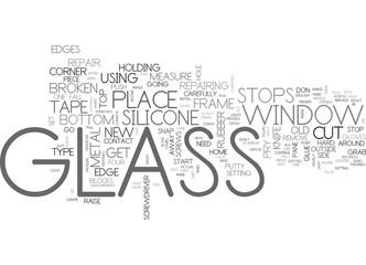 WINDOW GLASS REPAIR PART TEXT WORD CLOUD CONCEPT