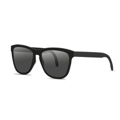 Black sunglasses side view vector illustration
