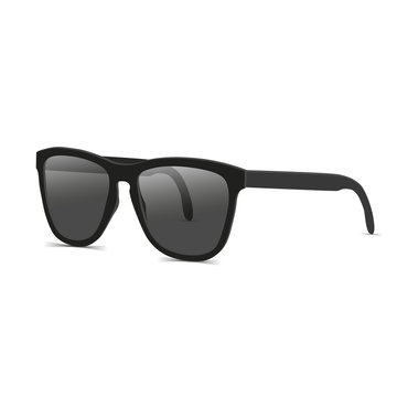 Black sunglasses side view vector illustration