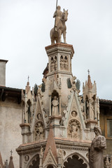 Scaliger tombs, a group of five gothic funerary monuments celebrating the Scaliger family in Verona. Italy