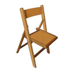 Vector color sketch of chair