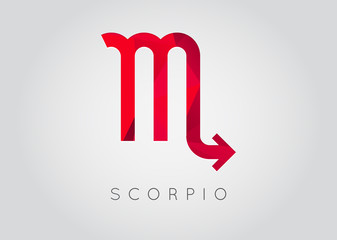 Scorpio Constellation. Detailed Stylish Zodiac Icon. Modern Style Drawing. Vector Illustration.