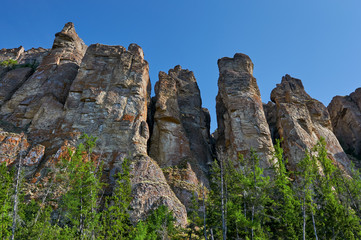 Lena Pillars, bank of Lena river, Yakutia