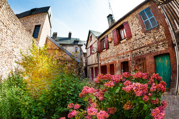 Beautiful courtyard of Honfleur old city