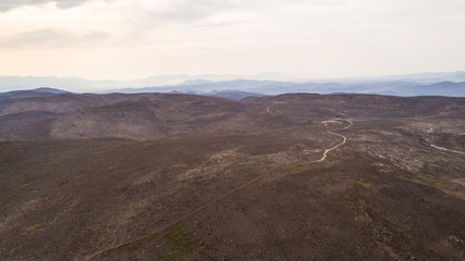 Aerial views of the valleys around Robertson in the Breede Valley in the Western Cape of South Africa