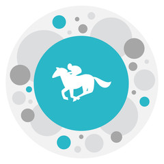 Vector Illustration Of Gambling Symbol On Horse Riding Icon. Premium Quality Isolated Jockey Element In Trendy Flat Style.