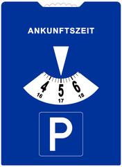 spr53 SignParkRaum - Parkscheibe Zeichen - xxl - Poster - 11 cm x 15 cm groß - g5261