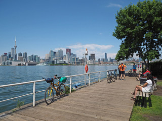 Wall Murals Toronto Toronto has a popular network of bike trails along its waterfront.