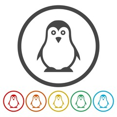 Penguin Icons set - vector Illustration