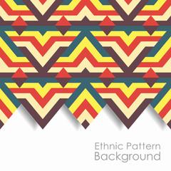 Ethnic pattern background. Vector illustration.