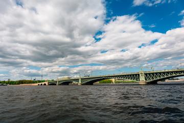 Trinity Bridge in St. Petersburg