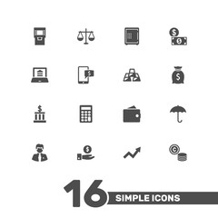 Set Of 16 Budget Icons Set.Collection Of Ingot, Cash, Grown And Other Elements.