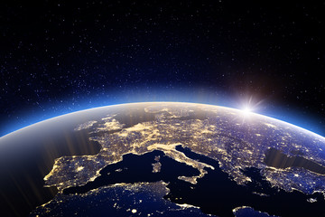 World - Europe. Elements of this image furnished by NASA
