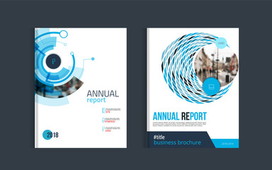 Brochure layout design template for corporate business report.