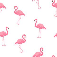 Canvas Prints Pink flamingos pattern.