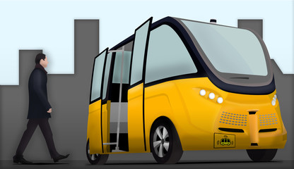 Self driving bus very high definition