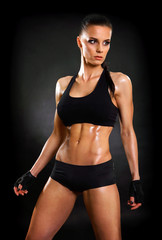 perfect female fitness model