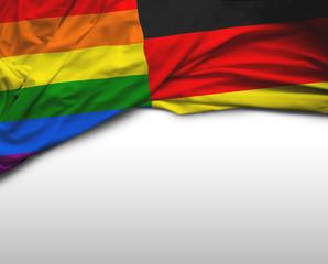 German and LGBT flag